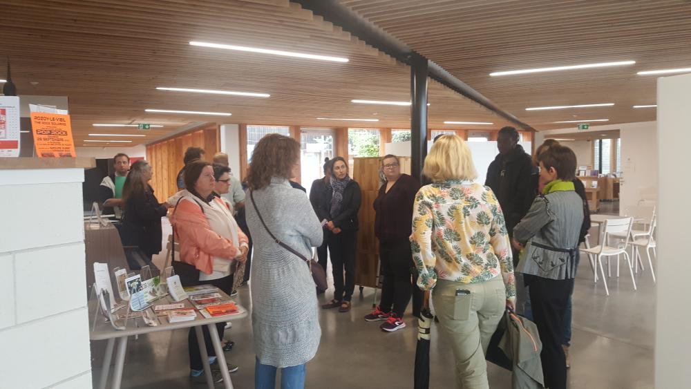 Visite public du Centre social au Pôle culturel et associatif